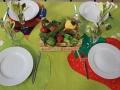 Décoration de table réalisée par les résidents du Home Valère Delcroix.